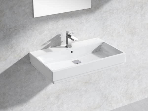 3D cube wall-hung basin 80