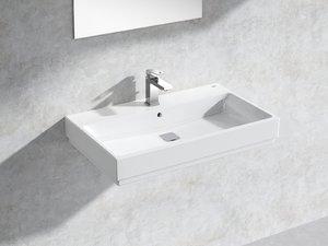 3D cube wall-hung basin 80