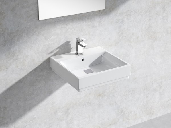 cube wall-hung basin 50 3D model