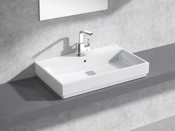 cube countertop basin 80 3D
