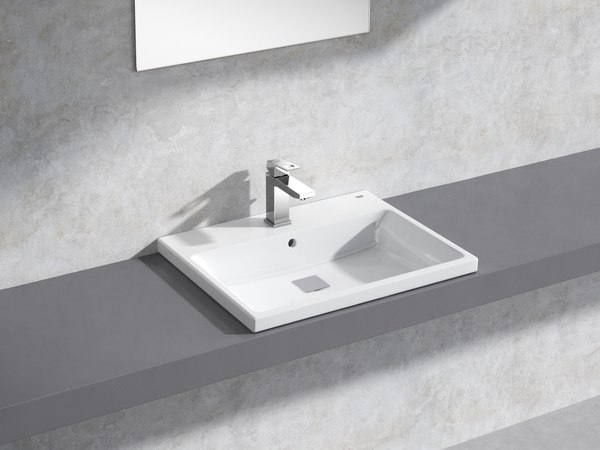 cube semi-recessed basin 60 model