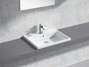 cube semi-recessed basin 60 model