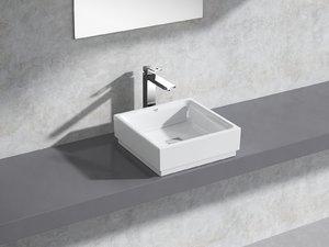 3D cube countertop vessel 40 model