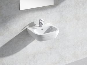 3D model euro wall-hung basin 45