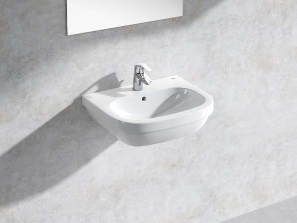 3D euro wall-hung basin 55 model