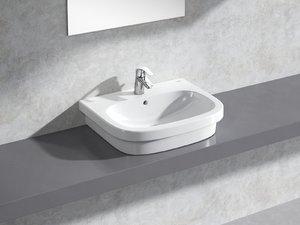3D euro countertop basin 60 model