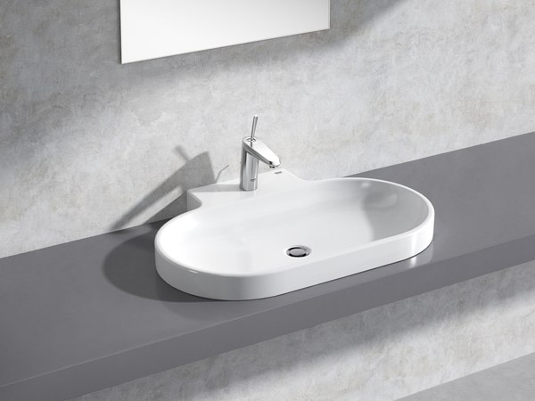 eurocosmo countertop basin 80 3D model
