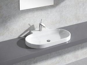 eurocosmo countertop basin 80 3D model