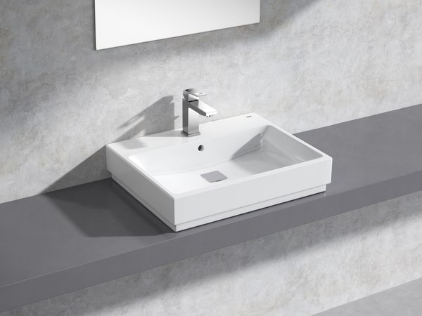 3D model eurocube countertop basin 60