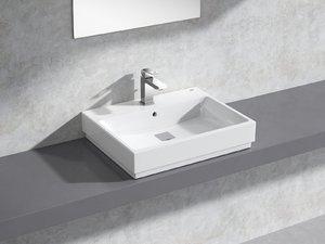 3D model eurocube countertop basin 60