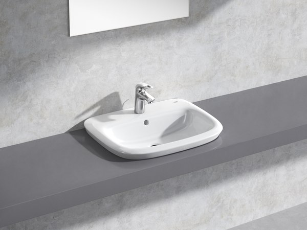 3D eurostyle semi-recessed basin 60 model