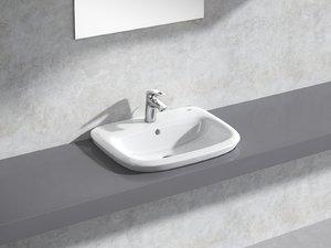 3D eurostyle semi-recessed basin 60 model