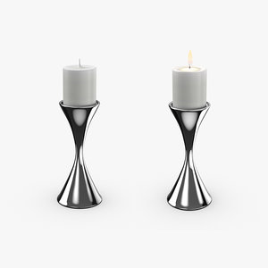 3D contemporary candle holder 02