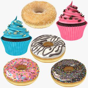 cupcake donut 3D