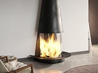 filiofocus mural fireplace focus 3D model