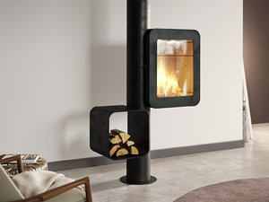 3D grappus fireplace model