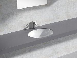 bau counter basin 55 3D model