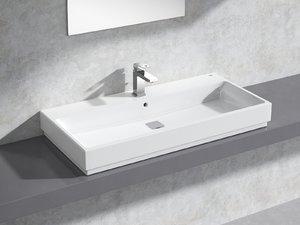 3D cube countertop basin 100