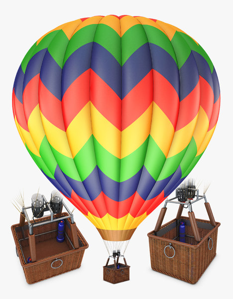 hot air balloon v 3D model