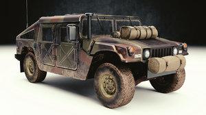 3D humvee hmmwv m1114 model