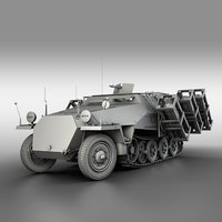 3D sd kfz 251 ausf model