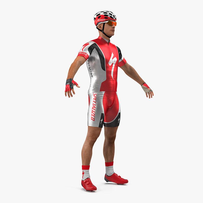 3D bicyclist neutral pose model