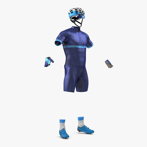 3D cyclist suit generic model