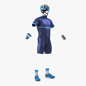 3D cyclist suit generic model