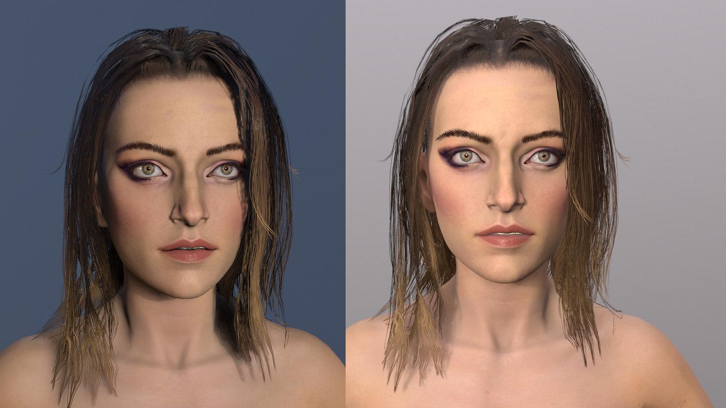 3D female compatible unreal basemesh