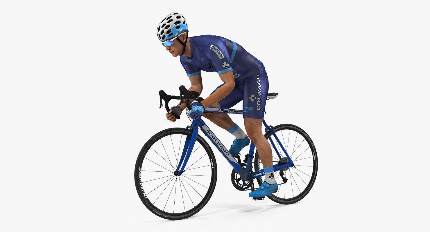bicyclist road bike 3D model