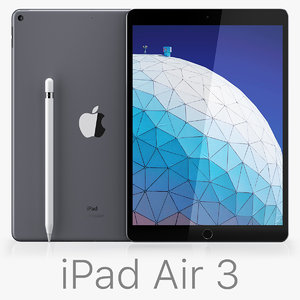 apple ipad air 10 3D model