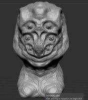 character bust valcor 3D model