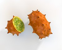 kiwano horned melon 3D