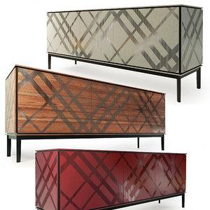 3D dressers sideboard tartan tonin