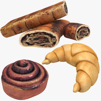 croissant cinnamon rolls model
