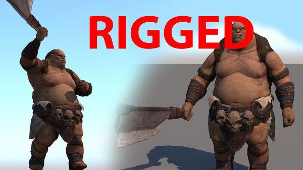 orc rigged 3D model