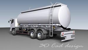 3D model tanker cement