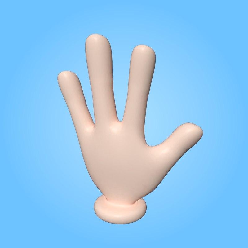 3D model cartoon hand