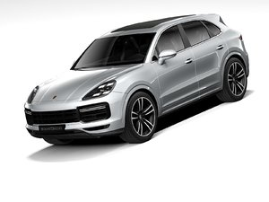 3D porsche cayenne turbo 2020 model
