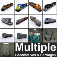 Train locomotives & carriages collections