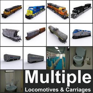 locomotives carriages 3D model
