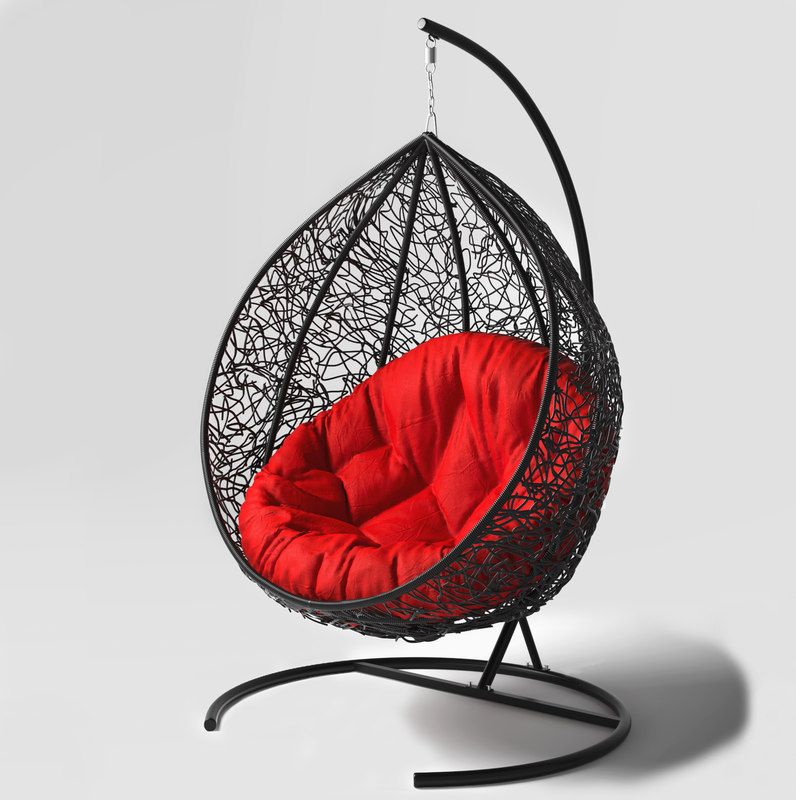 3D swing hanging rotan chair