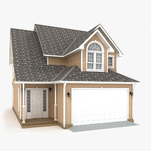 two-story cottage 66 3D model
