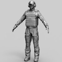 special force soldier 1 3D model