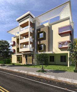 commercial building design 3D model