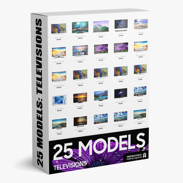 pack 25 televisions 3D model