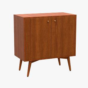 3D century cabinet model