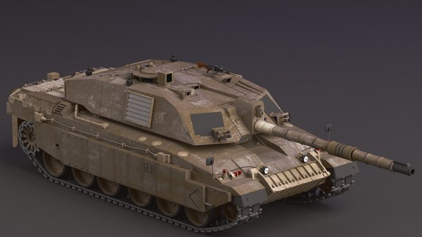 3D challenger army tank