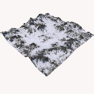 3D snowy terrain