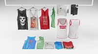 Tank top collection 3D model